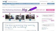 Blogging for BT - sharing economy